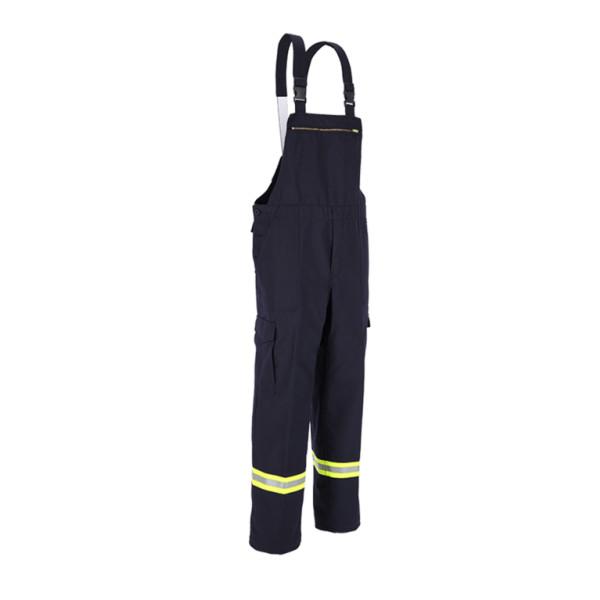 Feuerwehr-Latzhose HuPF Teil 2  Baumwolle, mit Reflexstreifen