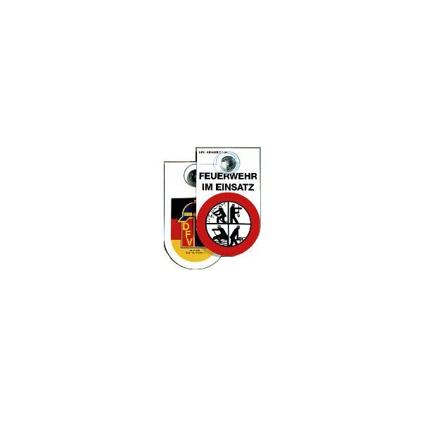 Kennzeichnungsschild Feuerwehr mit Saugnapf
