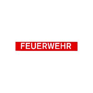 """Aufkleber""""FEUERWEHR"""", 3,5 x 24cm, aussen"""