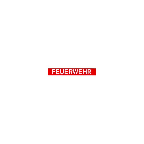 """Aufkleber""""FEUERWEHR"""", 3,5 x 24cm, innen"""