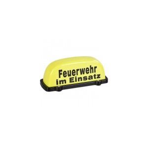 """Dachaufsetzer gelb """"Feuerwehr im Einsatz"""""""