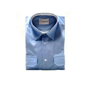 Uniformhemd, 1/1 Arm, hellblau, Mischgewebe (55/45)