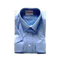 Uniformhemd, 1/2 Arm, hellblau, Mischgewebe (55/45)
