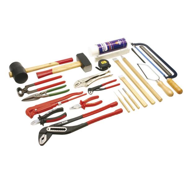 Werkzeugsatz Metall 2 DIN 14800-WKM 2, Werkzeugsatz ohne Kasten