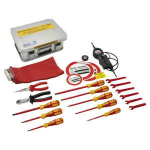 Elektrowerkzeug DIN 14885, komplett in Firebox, 400 x 300...