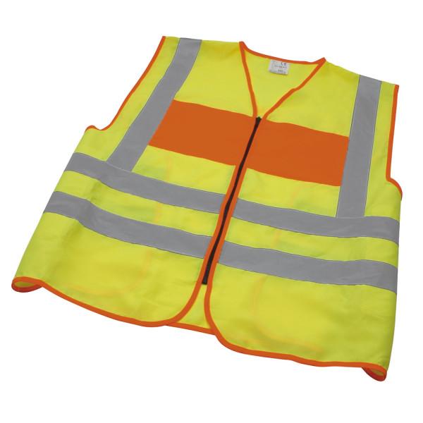 Signalweste, ohne Aufdruck, gelb/orange