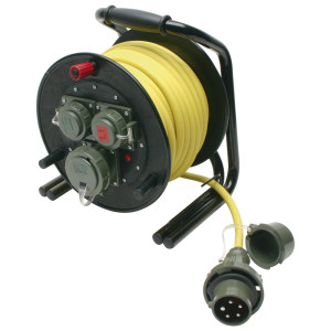 Leitungsroller THW 230 V/400 V, 16 A DIN 14680, 25 m, L1/L2