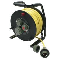 Leitungsroller THW 230 V/400 V, 16 A, 50 m, L1/L2
