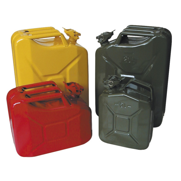 Stahlblech-Benzinkanister, 10 l, rot