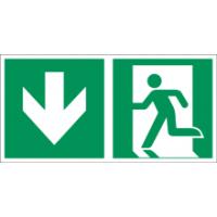 Rettungszeichen ISO 7010 / E001 Notausgang nachleuchtend