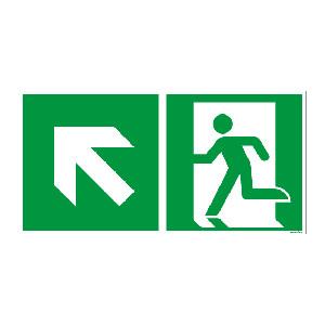 Rettungszeichen ISO 7010 / E001 Rettungsweg links...