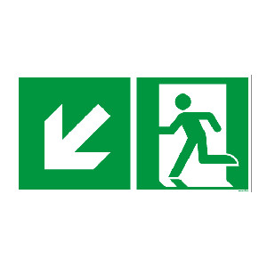 Rettungszeichen ISO 7010 / E001 Rettungsweg  nachleuchtend