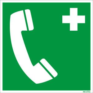 Rettungszeichen ISO 7010 / E004 Notruftelefon  nachleuchtend
