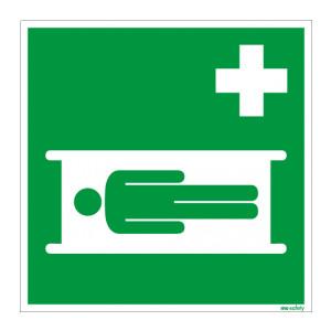 Rettungszeichen ISO 7010 / E013 Krankentrage  nachleuchtend
