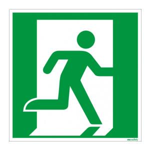 Rettungszeichen ISO 7010 / E001 Rettungsweg rechts...