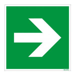 Rettungszeichen ISO 7010 / E864 Richtungsangabe gerade...