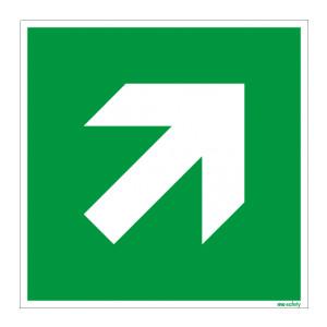 Rettungszeichen ISO 7010 / E864 Richtungsangabe...