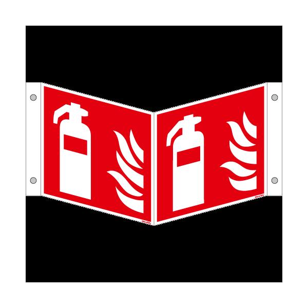 Brandschutzschild ISO 7010 / F001 Feuerlöscher