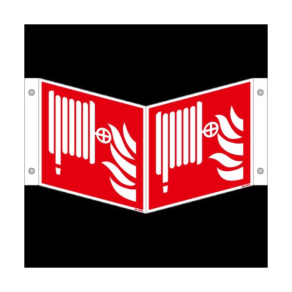 Brandschutzschild ISO 7010 / F002 Löschschlauch
