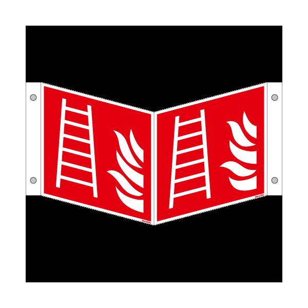 Brandschutzschild ISO 7010 / F003 Leiter