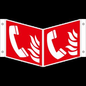 Brandschutzschild ISO 7010 / F006 Brandmeldetelefon