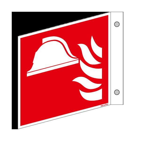 Brandschutzschild ISO 7010 / F004 Mittel und Gerät zur Brandbekämpfung