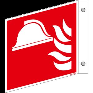 Brandschutzschild ISO 7010 / F004 Mittel und Gerät...