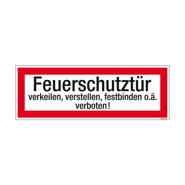 Textschild Feuerschutztür