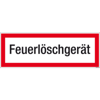 Textschild Feuerlöschgerät