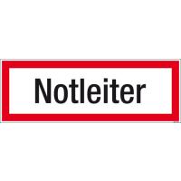 Textschild Notleiter