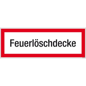 Textschild Feuerlöschdecke