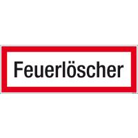 Textschild Feuerlöscher