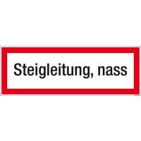Textschild Steigleitung, nass