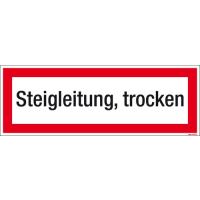 Textschild Steigleitung, trocken