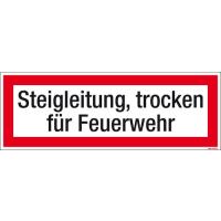 Textschild Steigleitung, trocken für FW