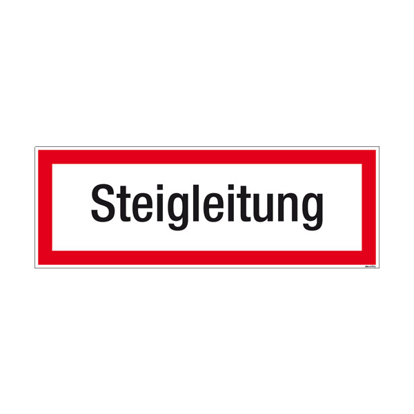 Textschild Steigleitung