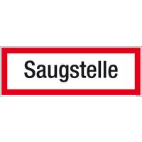 Textschild Saugstelle