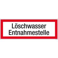 Textschild Löschwasser Entnahmestelle