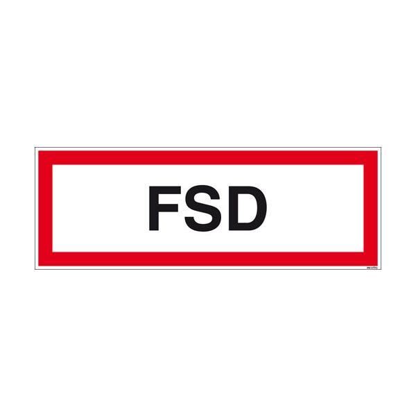 Textschild FSD
