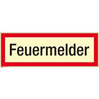 Textschild Feuermelder
