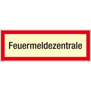 Textschild Feuermeldezentrale