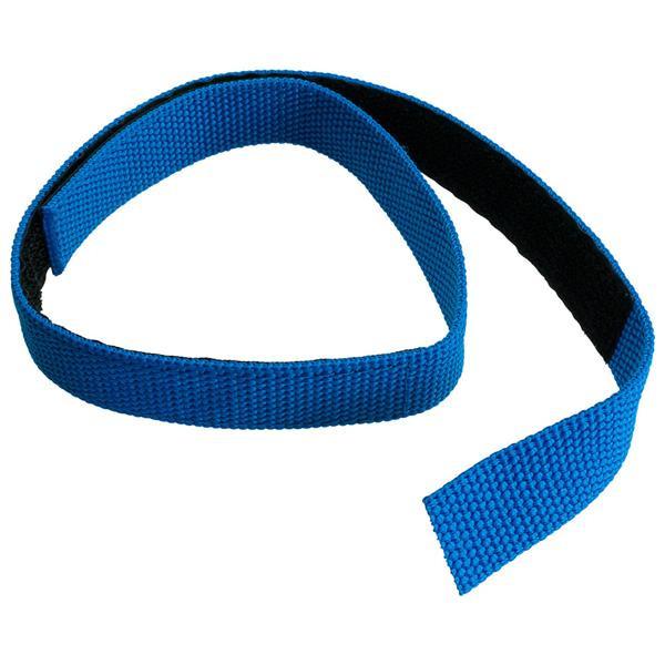 Klettband für Schlauchpaket, blau, 700 x 25 mm