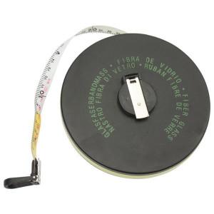 Rollbandmaß mit Haken, 30 m, Bandbreite 13 mm