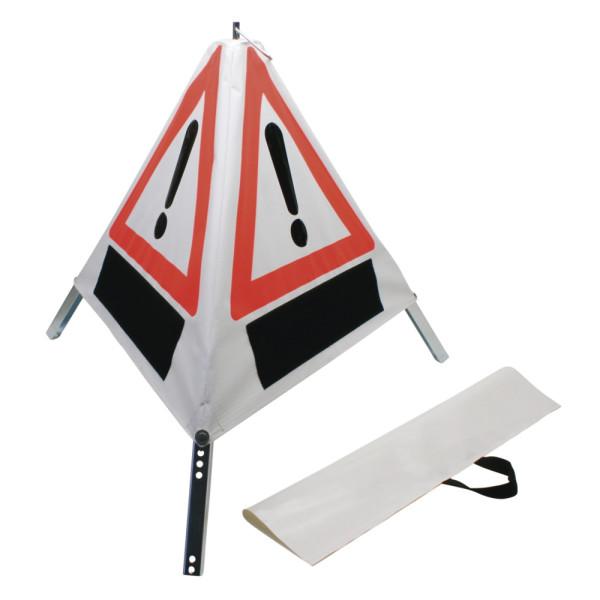 Klett-Faltsignal, 700 mm, Tagesleuchtfarbe, Feuerwehr, Unfall, Ölunfall
