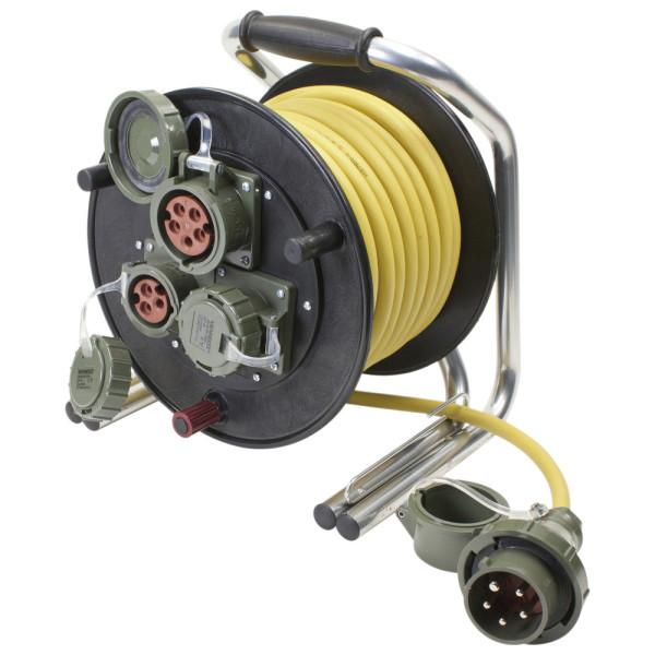 Leitungsroller Feuerwehr 400 V, 16 A DIN 14680, 25 m, CEE 5-pol