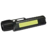 UK Helmlampe 4AA eLED CPO, TS Heckschalter, schwarz, nachl. Streifen