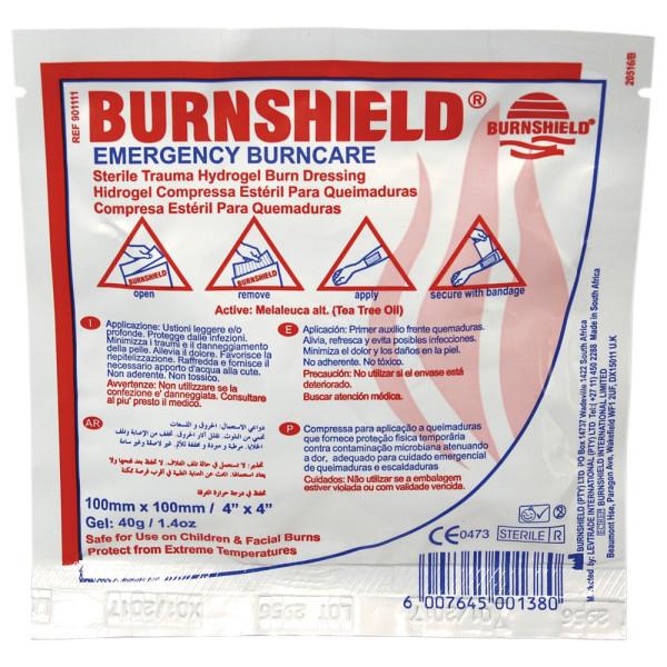 Burnshield Brandwundenverband, Kompresse, 10 x 10 cm