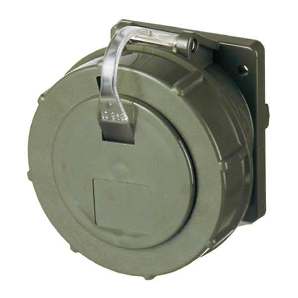 Mennekes CEE-Anbausteckdose gerade, IP67, bronzegrün