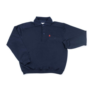 Polo-Sweater FireBlaze mit rotem Stick