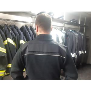 Strickjacke Feuerwehr mit Reflexbiese